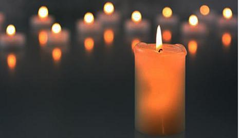 Kerzen Anzünden Abschied Und Trauer